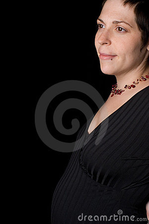 Profile of a pregnant woman