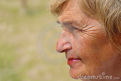 Profile of a senior woman