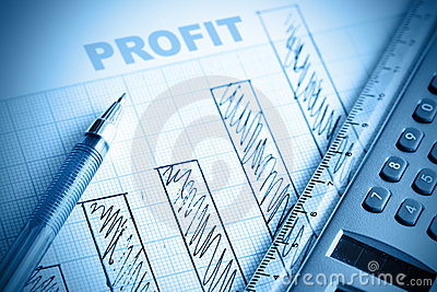 Profit Bar Chart Royalty Free Stock Photography - Image: 15079447