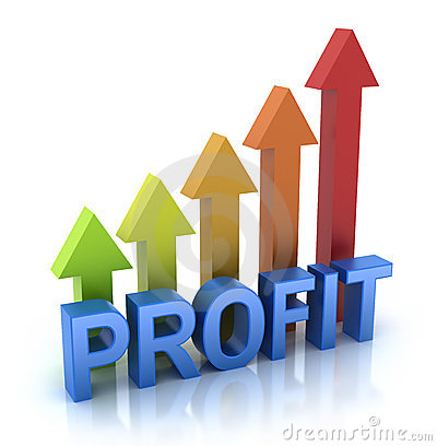 Profit colorful graph concept