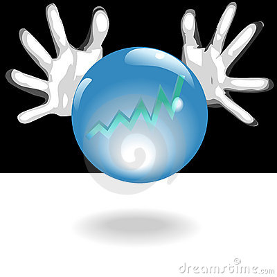 Profit Future Crystal Ball In Hands