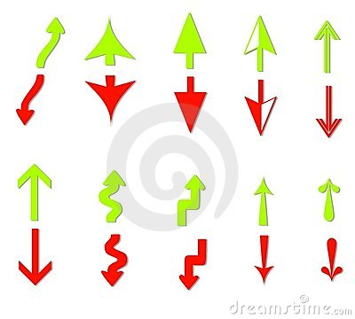 Profit and Loss Arrows Clip Art