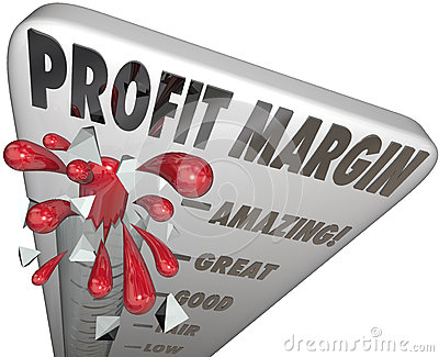 Profit Margin Thermometer Measuring Income