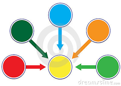 Profit and Wealth Distribution Circle Illustration