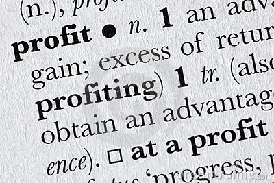 Profit word dictionary definit