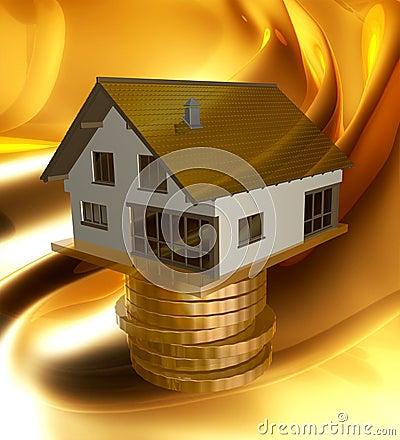 Profitable home investment icon