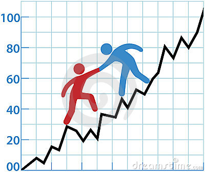 Profitto di guida del diagramma di persona di affari