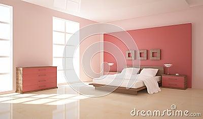 Camera da letto bianca con parete rossa design casa for Design della casa con una camera da letto