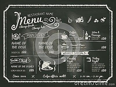 Progettazione del menu dell 39 alimento del ristorante con il for Progettazione del layout del garage