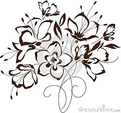 Progettazione floreale mazzo dei fiori stilizzati for Fiori stilizzati immagini