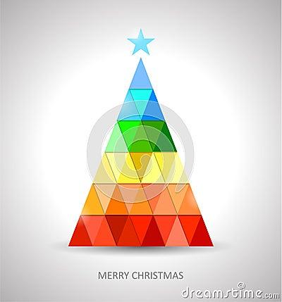 Progettazione originale dell 39 albero di natale nei colori - Immagine dell albero a colori ...