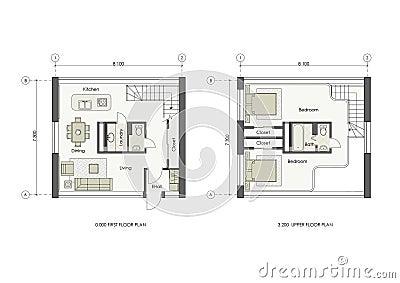 Progetto della piccola casa fotografia stock immagine for Design frontale della piccola casa