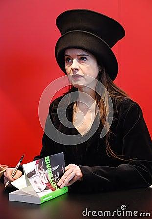 Programa de escritura francés/belga Amelie Nothomb de la ficción Imagen editorial