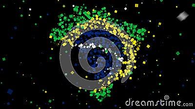 Programma e bandierina del Brasile illustrazione di stock