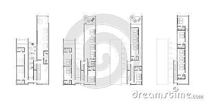 ... Libera da Diritti: Programmi di pavimento di un disegno architettonico