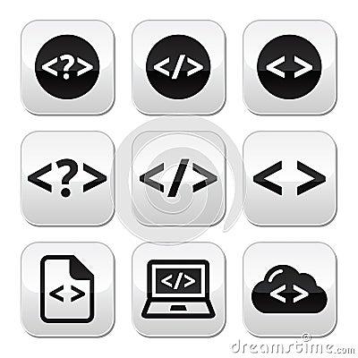 Programming code  buttons set