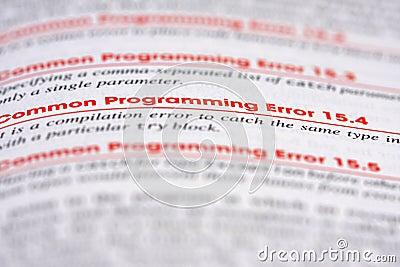 Programming Error