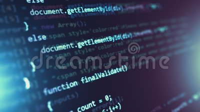 Programming source code abstract background stock footage