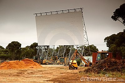 Removing old outdoor movie screen
