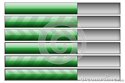 Progress bars green