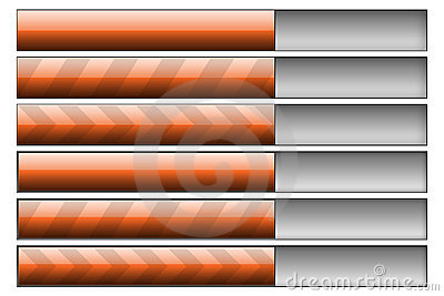 Progress bars orange