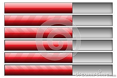 Progress bars red