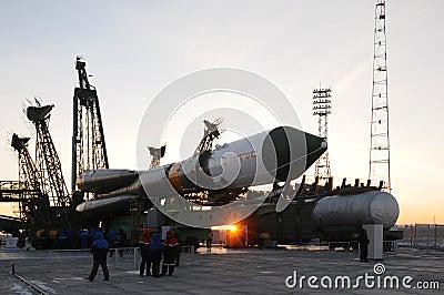Progress Cargo Spacecraft Elevation Editorial Stock Image
