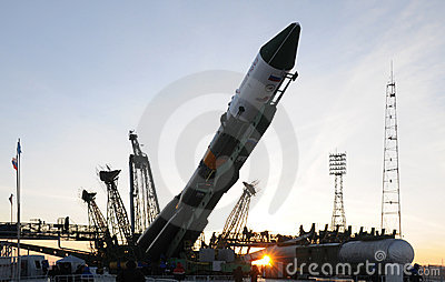 Progress Space Vehicle Elevation Editorial Stock Photo