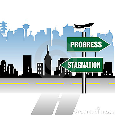Progress stagnation indicator