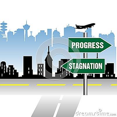 Progress stagnation indicator