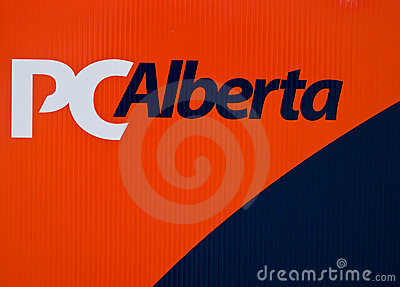 Progressive conservatives party sign Editorial Stock Photo