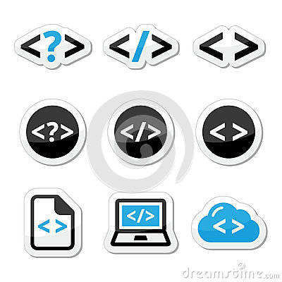 Progrmming code  icons set