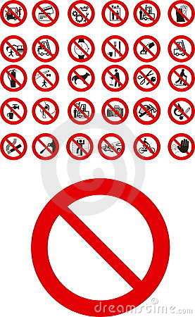 Free Prohibited Signs Stock Image - 6195691