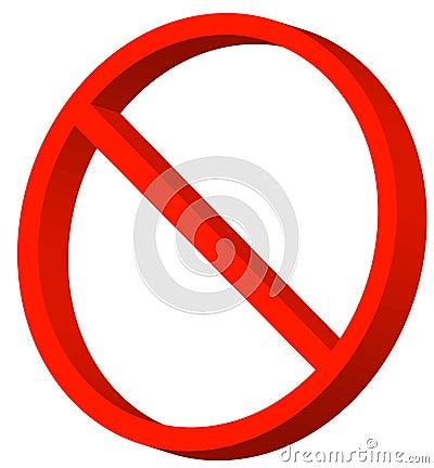 Prohibited symbol