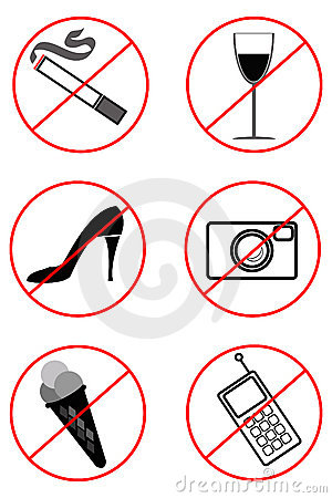 Prohibiting signs (Black-and-white)