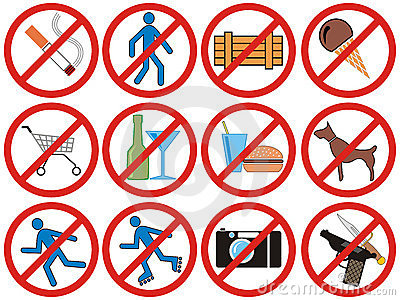 Prohibiting signs (Vector)