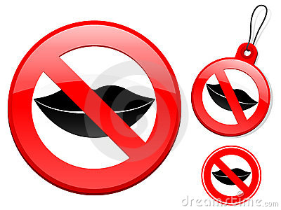Prohibition sign collection - lips