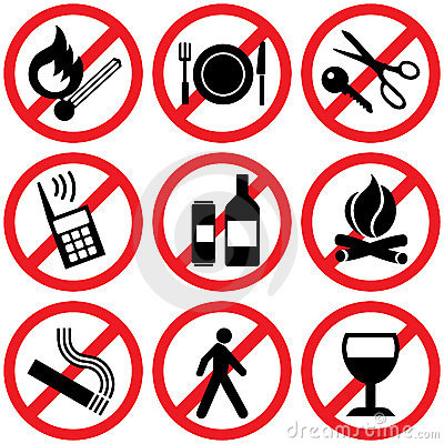 Prohibitory signs