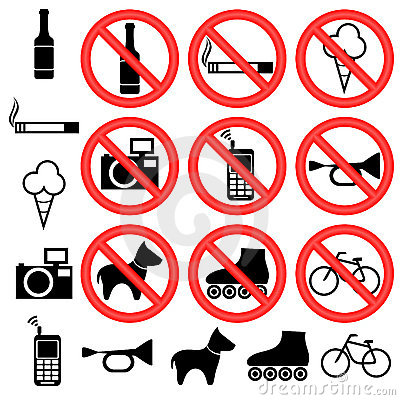 Free Prohibitory Signs. Stock Image - 21191521