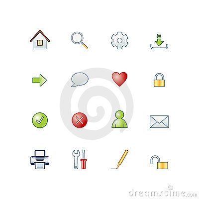 Free Project Basic Web Icons Stock Image - 3222431