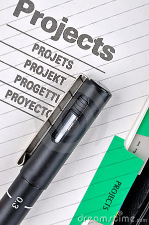 Project file and pen