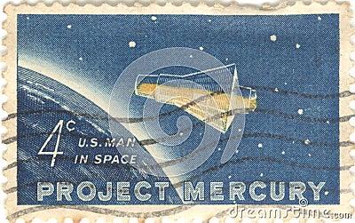 Project Mercury Stamp
