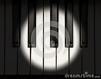 Projecteur sur le piano