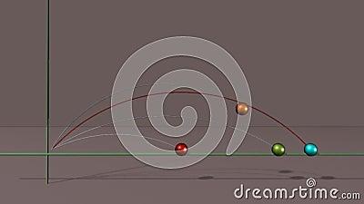 Projectile de boule illustration de vecteur