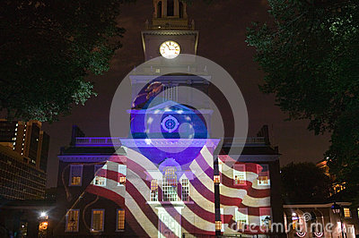 Projections of Betsy Ross Flag Editorial Photo