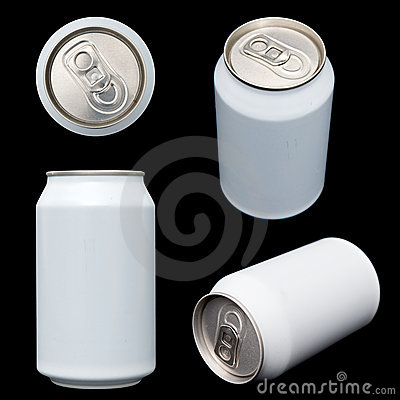 Projections of a blank beverage can