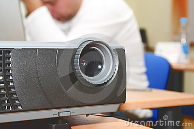 Projector at office table (horizontal)