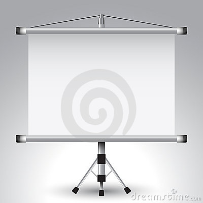 Projector roller screen