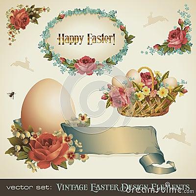 Projekta Easter elementów rocznik