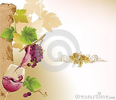 Projekta listy wino